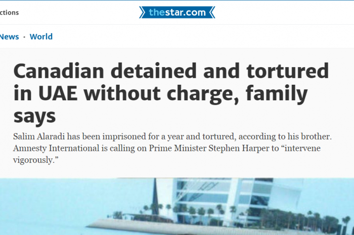 Toronto Star - Canadian detained and tortured in UAE without charge, family says